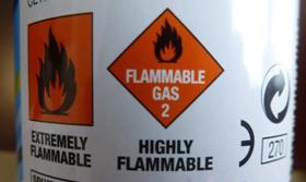 火焰可燃标志-喷雾气压瓶-1
