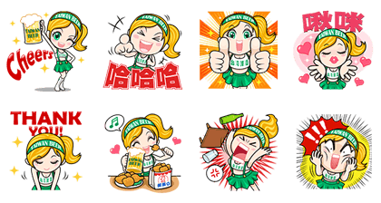 line stickers 2334