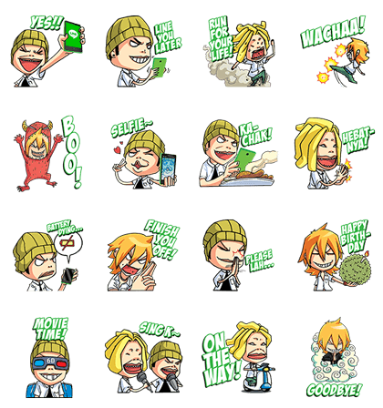line stickers 2341