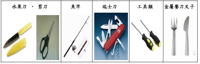 飛機違禁品-禁止攜帶但可托運物品
