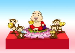 2016台北燈節-富貴彌勒猴