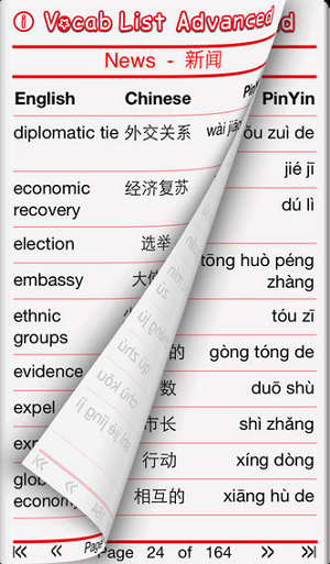 Vocab List Advanced - Chinese